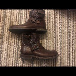 Frye Wayde engineer zip boot men's 9 women's 11